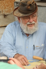 Abuna (James F. Strange) at pottery reading