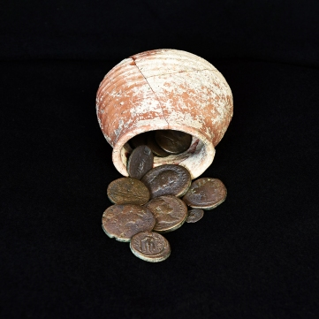 Coins dating from the 2nd century BCE to the 2nd CE